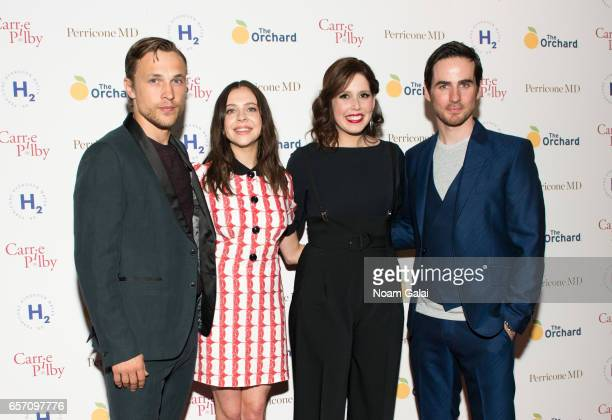 William Moseley Bel Powley Vanessa Bayer and Colin O'Donoghue attend the 'Carrie Pilby' New York screening at Landmark Sunshine Cinema on March 23...