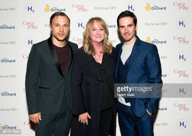 William Moseley Susan Johnson and Colin O'Donoghue attend the 'Carrie Pilby' New York screening at Landmark Sunshine Cinema on March 23 2017 in New...