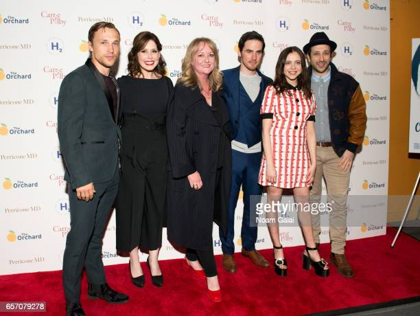 William Moseley Vanessa Bayer Susan Johnson Colin O'Donoghue Bel Powley and Desmin Borges attend the 'Carrie Pilby' New York screening at Landmark...