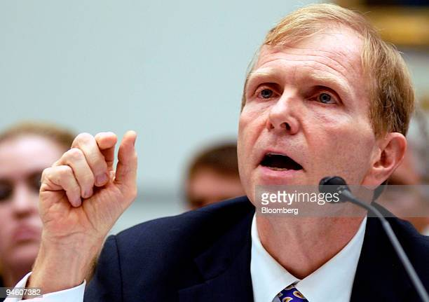 William Moser deputy assistant secretary for logistics management at the US State Department testifies at a House Oversight and Government Reform...
