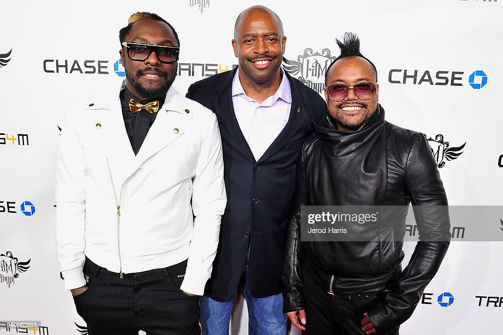 will.i.am, NASA Astranaut Leland Melvin and apl.de.ap arrive at will.i.am's Annual TRANS4M Concert Benefitting i.am.angel Foundation on February 7, 2013 in Hollywood, California.