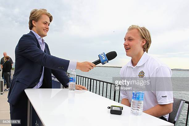 William Nylander drafted in 2015 by the Toronto Maple Leafs interviews his brother NHL draft prospect Alexander Nylander during the Top Prospects...