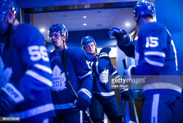 William Nylander of the Toronto Maple Leafs walks out of the dressing room prior to the game against the Detroit Red Wings at the Air Canada Centre...