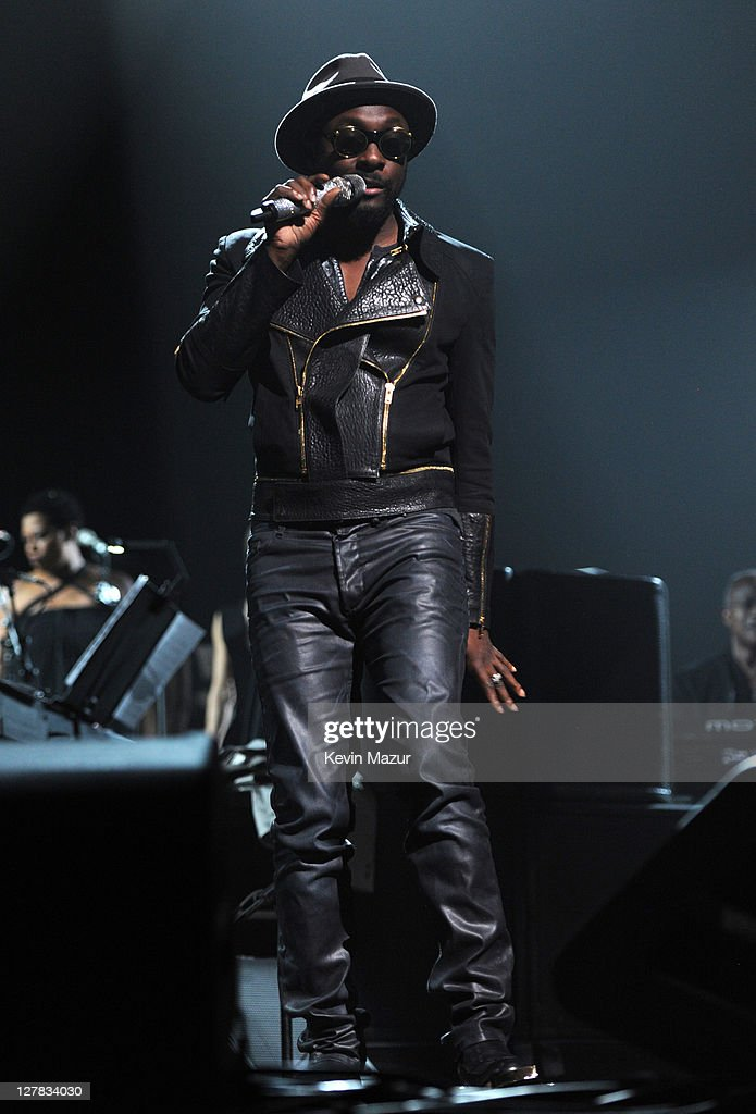 will.i.am of Black Eyed Peas performs on stage during