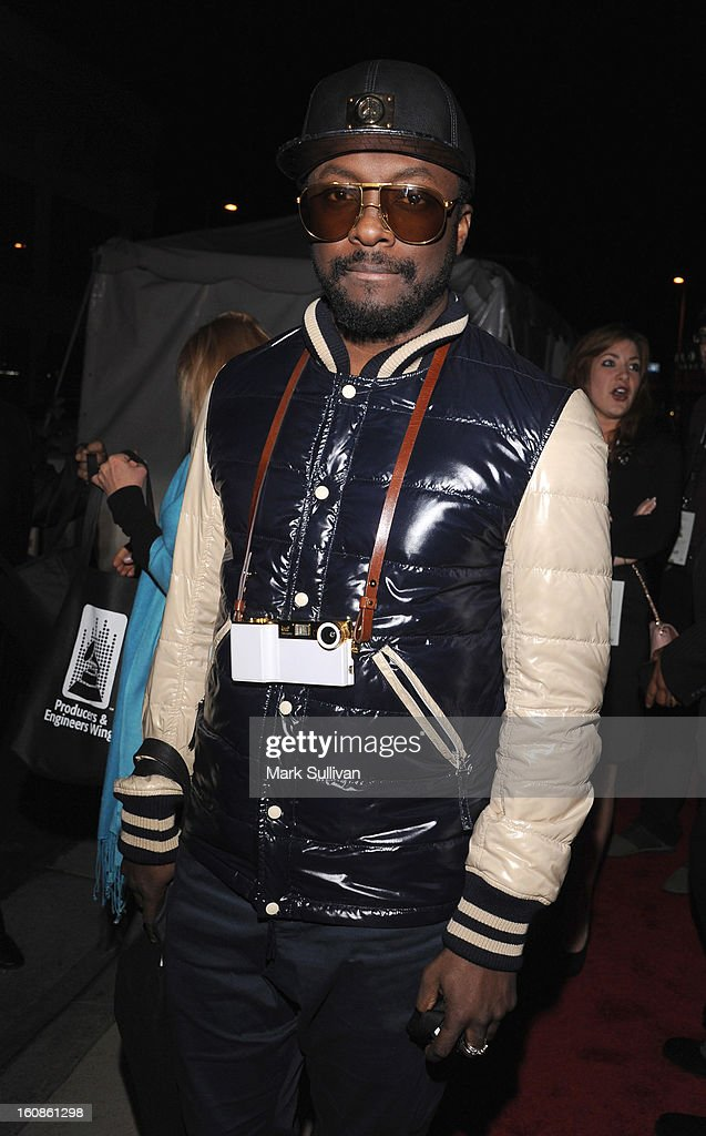 will.i.am of the Black Eyed Peas attends The 55th Annual GRAMMY Awards - P&E Wing Event Honoring Quincy Jones And Al Schmitt held at The Village on February 6, 2013 in West Los Angeles, California.