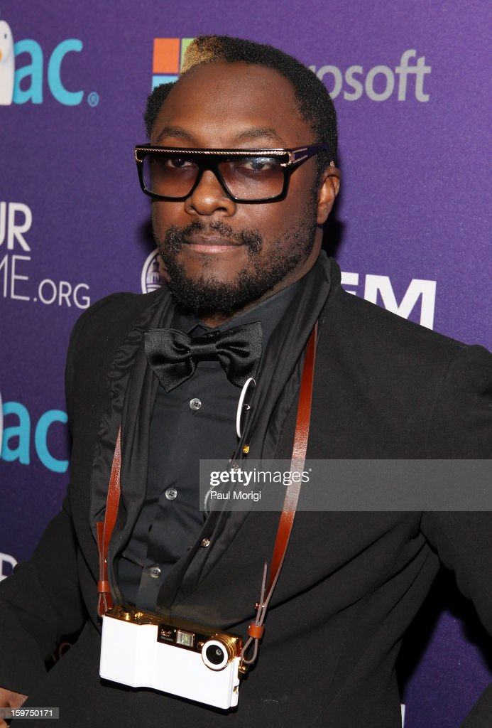 will.i.am of the Black Eyed Peas attends the OurTime.org Hosts Inaugural Youth Ball on January 19, 2013 in Washington, DC.