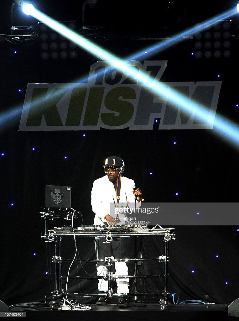 will.i.am of The Black Eyed Peas performs during night 1 of the 2012 KIIS FM Jingle Ball at Nokia Theatre LA Live on December 1, 2012 in Los Angeles, California.