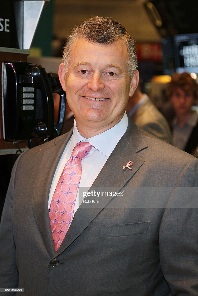 William P. Lauder, Executive Chairman visits the New York Stock Exchange in celebration of the 20th Anniversary of the Estee Lauder Companies' Breast Cancer Awareness Campaign on October 1, 2012 in New York City.