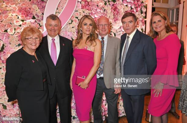 William P Lauder Executive Chariman of The Estee Lauder Companies Elizabeth Hurley Mitch Dowsett Team Leader at the Institute of Cancer Research The...