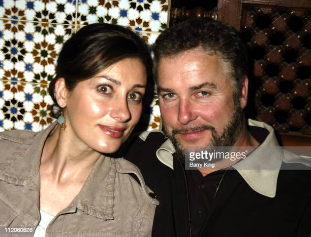 William Petersen and wife Gina Cirone during 'Art School Confidential' Screening and After Party at Dar Maghreb in Los Angeles CA United States