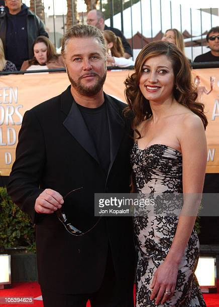 William Petersen and wife Gina Cirrone Petersen during 2005 Screen Actors Guild Awards Arrivals at The Shrine in Los Angeles California United States