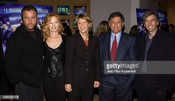 William Petersen Marg Helgenberger Nancy Tellem President CBS Entertainment Leslie Moonves CEO and Chairman CBS and Peter Sussman CEO Alliance...