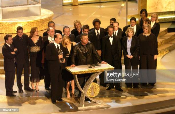 William Petersen with cast and crew members of 'CSI Crime Scene Investigation' accepts the award for Favorite Television Dramatic Series at the 29th...