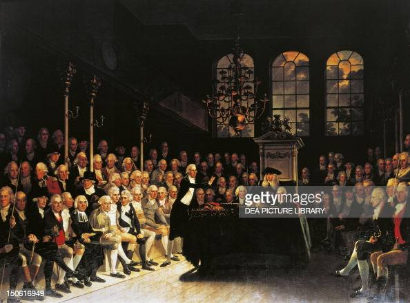 William Pitt addressing the House of Commons after the French declaration of war in 1793 by Anton Hickel oil on canvas French Revolutionary Wars...