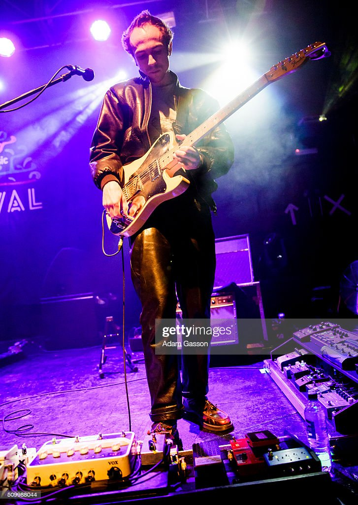 William Rees from Mystery Jets performs on the second day of the BBC 6 Music Festival at the O2 Academy on February 13, 2016 in Bristol, England.