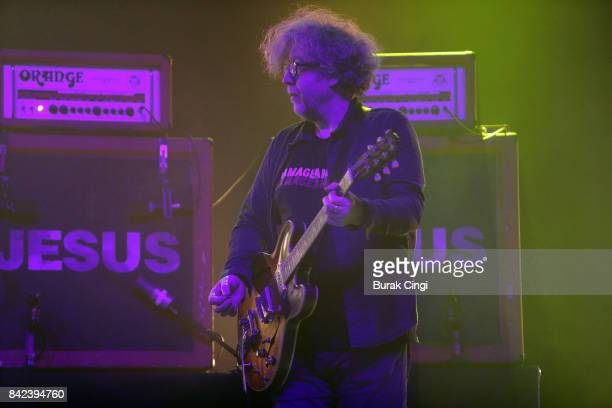 William Reid of The Jesus and Mary Chain performs on day 3 of End of the Road Festival at Larmer Tree Gardens on September 3 2017 in Farnham Dorset