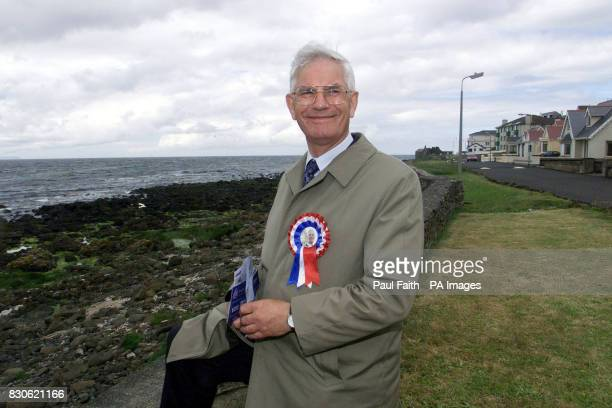William Ross Ulster Unionist candidate for east londonderry in the General Election canvassing in the coastal town of Portstewart Co londonderry