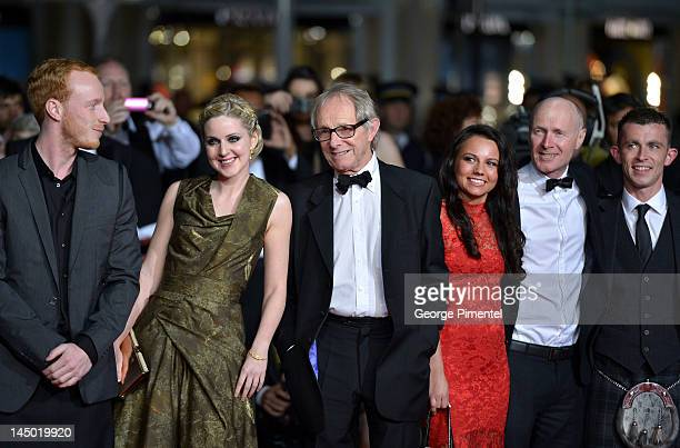 William Ruane Siobhan Reilly director Ken Loach Jasmin Riggins guest and Paul Brannigan attend 'The Angels' Share' Premiere during the 65th Annual...
