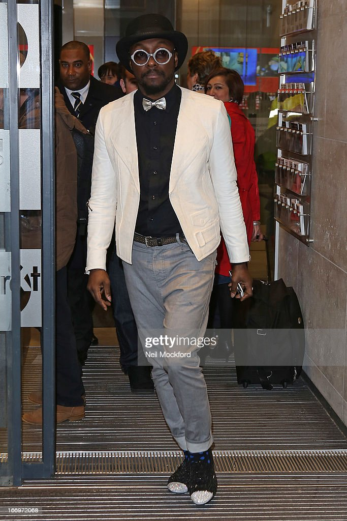 Will.i.am seen at BBC Radio One on April 19, 2013 in London, England.