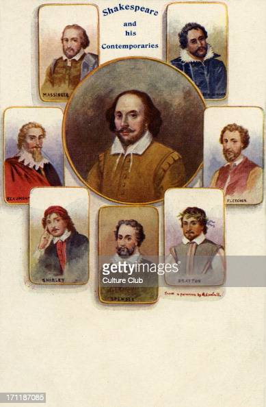 William Shakespeare and his contemporaries Massinger Beaumont Shirley Spenser Drayton Fletcher Ben Jonson English poet and playwright baptised 26...