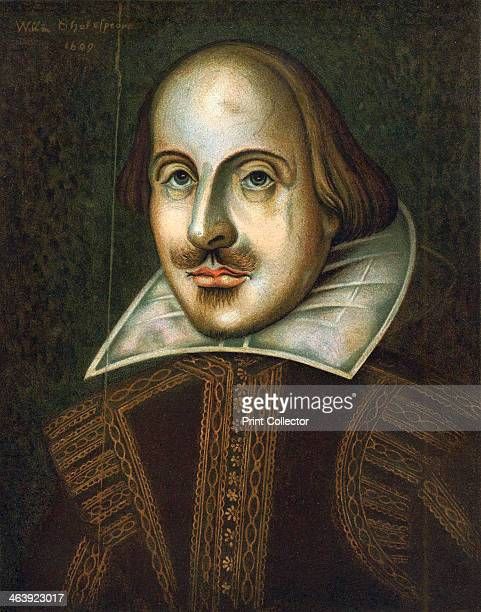 William Shakespeare English playwright 1609 Portrait in oils dated 1609 This is the portrait engraved by Droeshout for the First Folio edition of his...