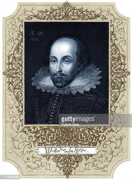William Shakespeare portrai with signature Dated 1610 English poet and playwright baptised 26 April 1564 – 23 April 1616