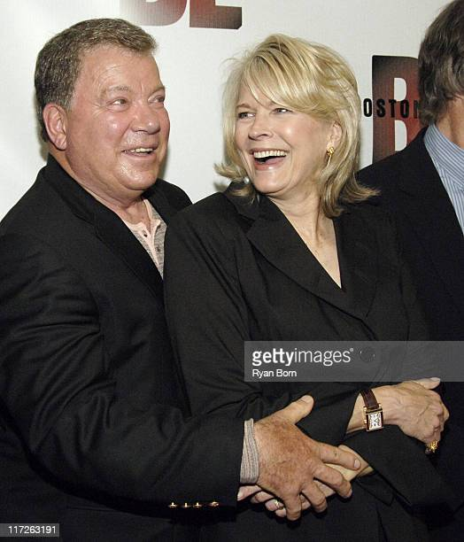 William Shatner and Candice Bergen during Boston Legal Celebrates It's Season One DVD Debut at The 21 Club in New York City New York United States