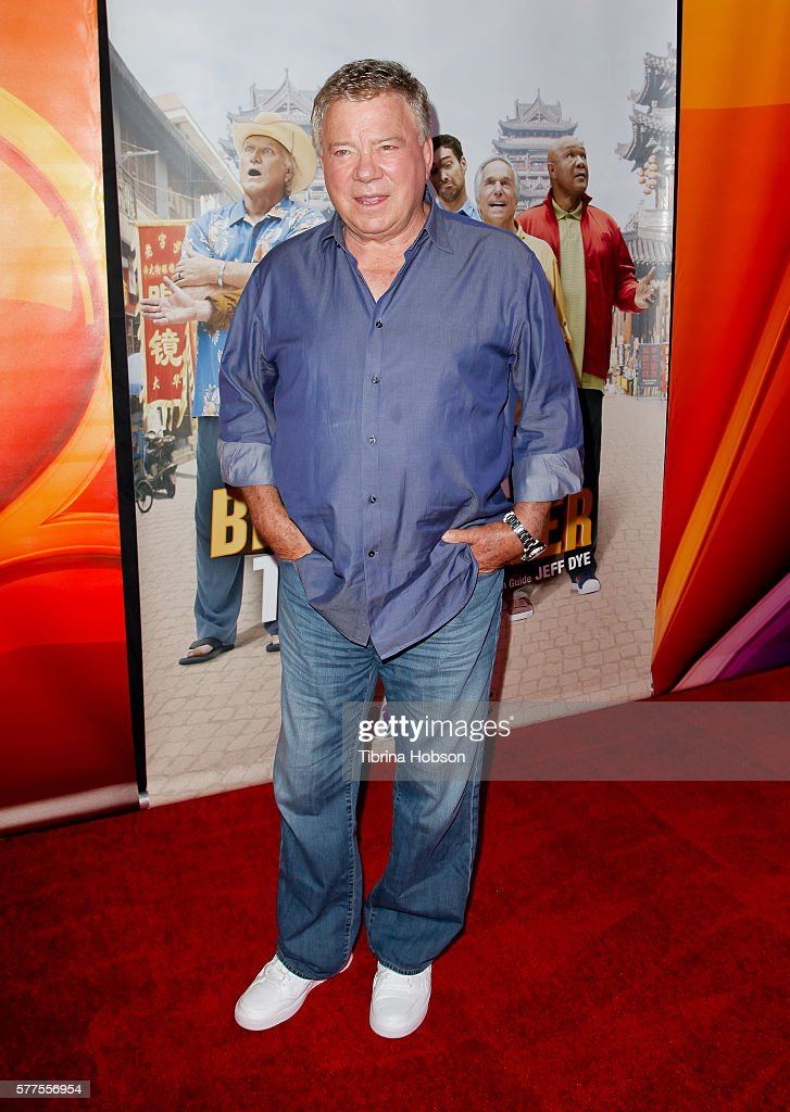 William Shatner attends the screening of NBC's 'Better Late Than Never' at Universal Studios Hollywood on July 18, 2016 in Universal City, California.