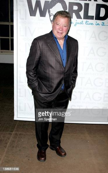 William Shatner attends the 'Shatner's World We Just Live In It' Broadway cast photocall at the Roundabout Theatre Company Rehearsal Studios on...