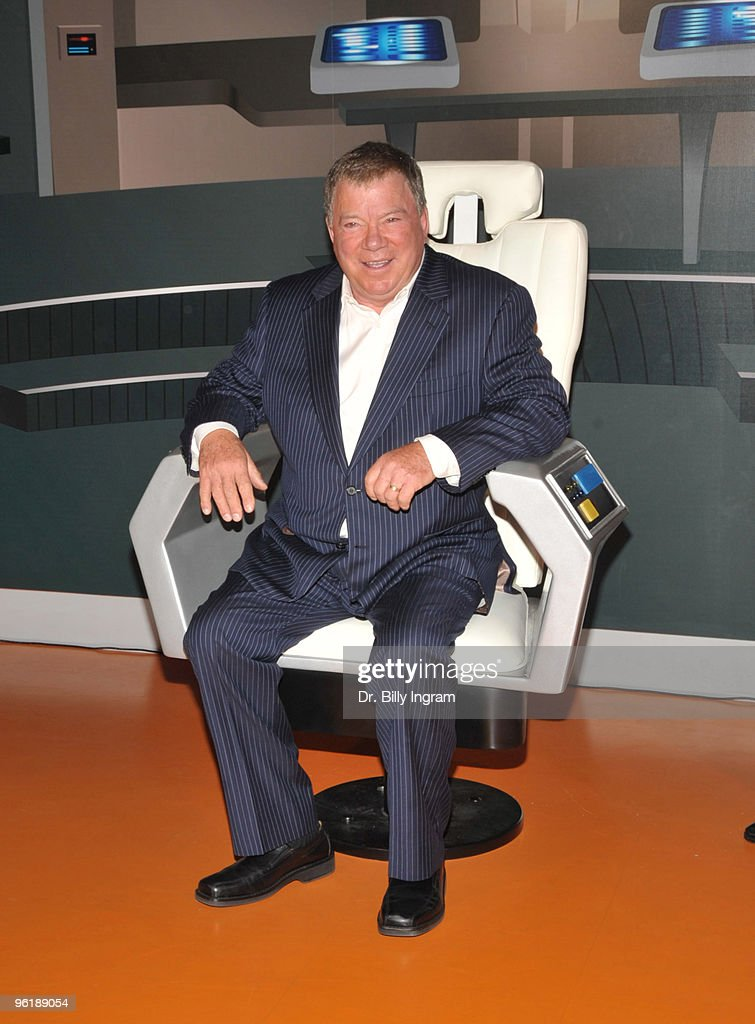 William Shatner attends the unveiling of his wax figure at Madame Tussauds on November 4 2009 in Hollywood California