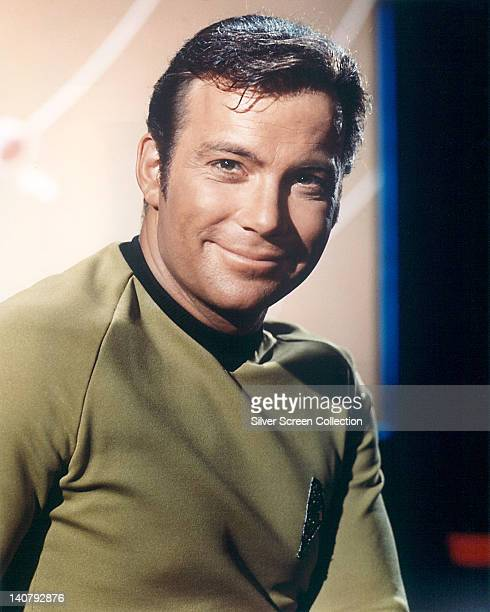 William Shatner Canadian actor in a costume smiling in a publicity portrait issued for the US television series 'Star Trek' circa 1968 The science...