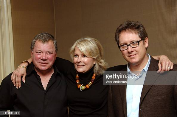 William Shatner Candice Bergen and James Spader during 'Boston Legal' Press Conference with Candice Bergen William Shatner and James Spader at Regent...