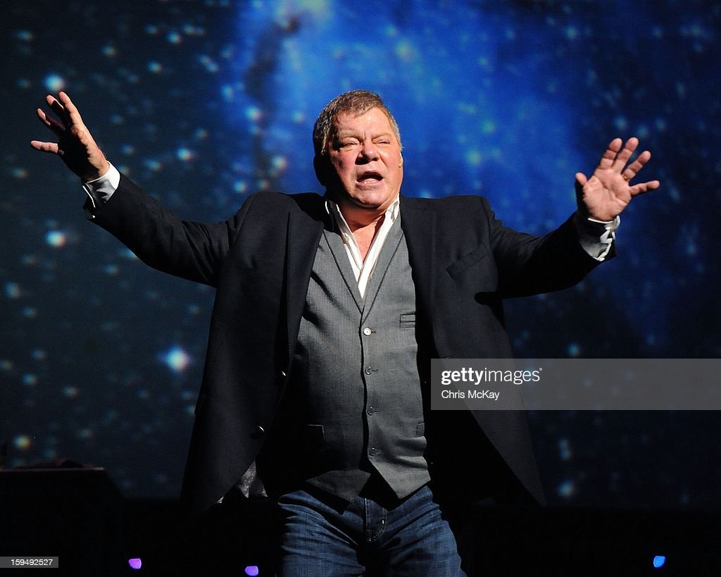 William Shatner performs at Cobb Energy Centre on January 13, 2013 in Atlanta, Georgia.
