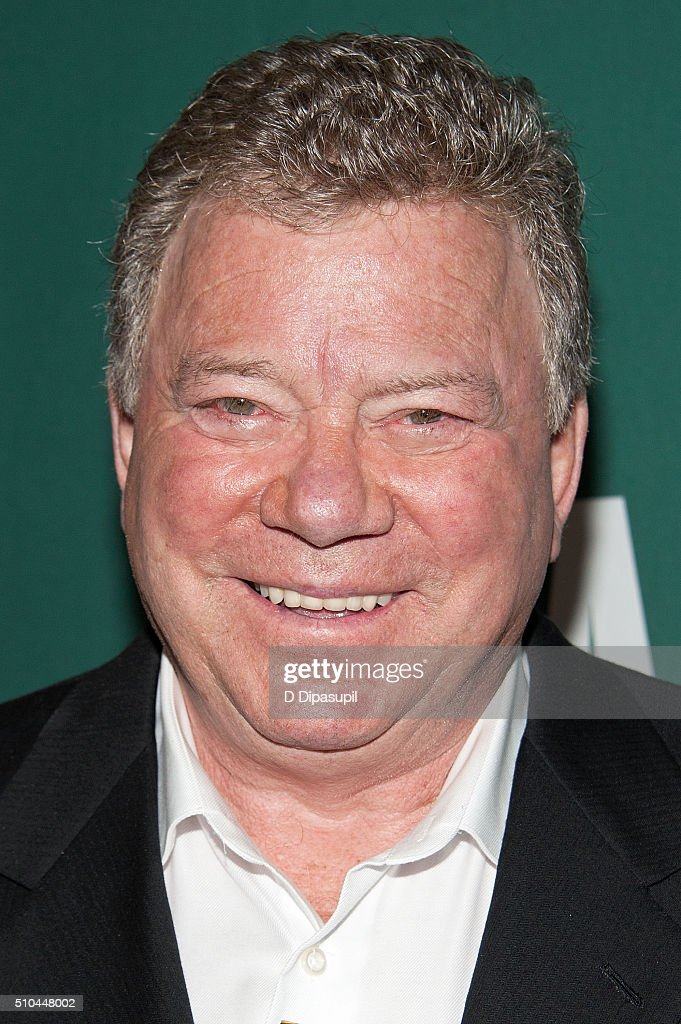 William Shatner promotes his book 'Leonard My FiftyYear Friendship with a Remarkable Man' at Barnes Noble Union Square on February 15 2016 in New...