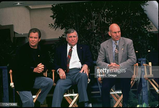 William Shatner 'Star Trek' creator Gene Roddenberry and Patrick Stewart