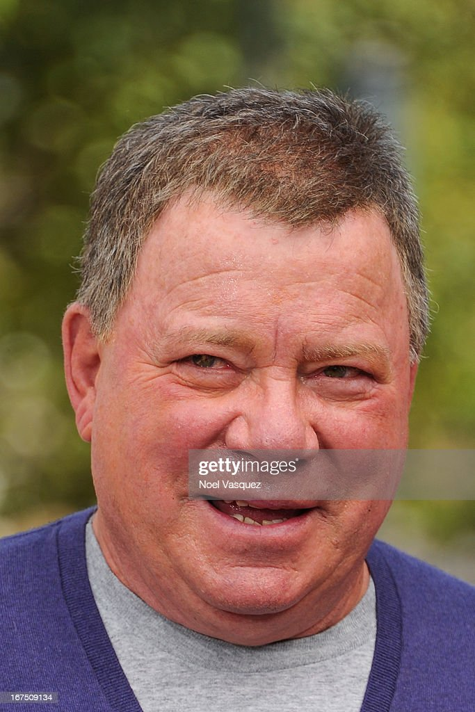 <a gi-track='captionPersonalityLinkClicked' href=/galleries/search?phrase=William+Shatner&family=editorial&specificpeople=202461 ng-click='$event.stopPropagation()'>William Shatner</a> visits 'Extra' at The Grove on April 25, 2013 in Los Angeles, California.