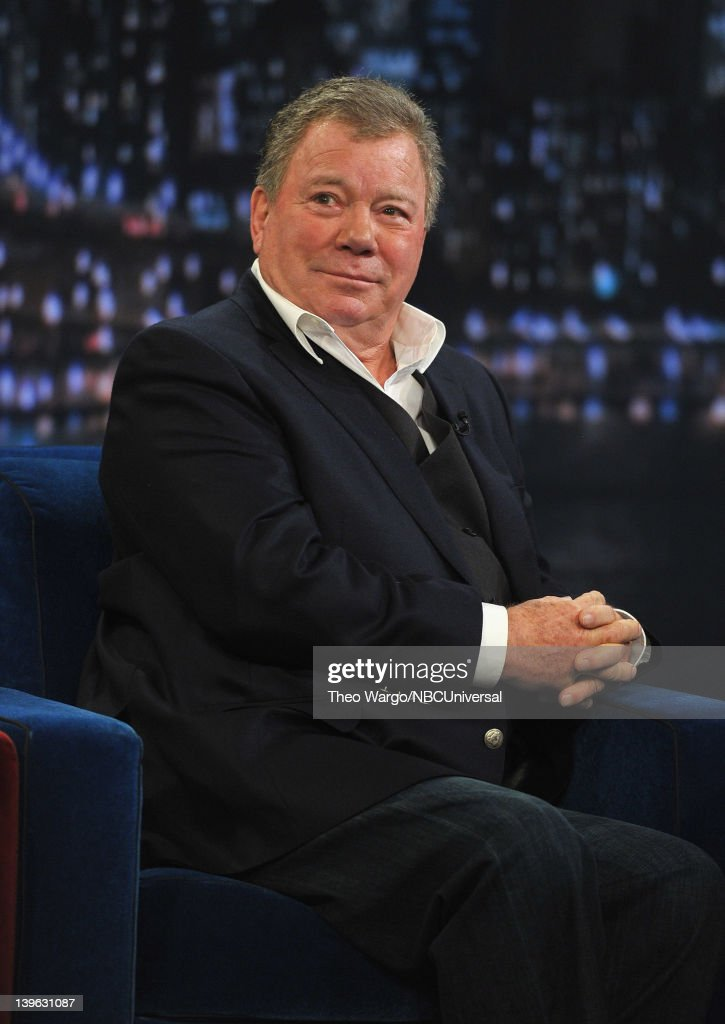 William Shatner visits 'Late Night With Jimmy Fallon' at Rockefeller Center on February 23 2012 in New York City