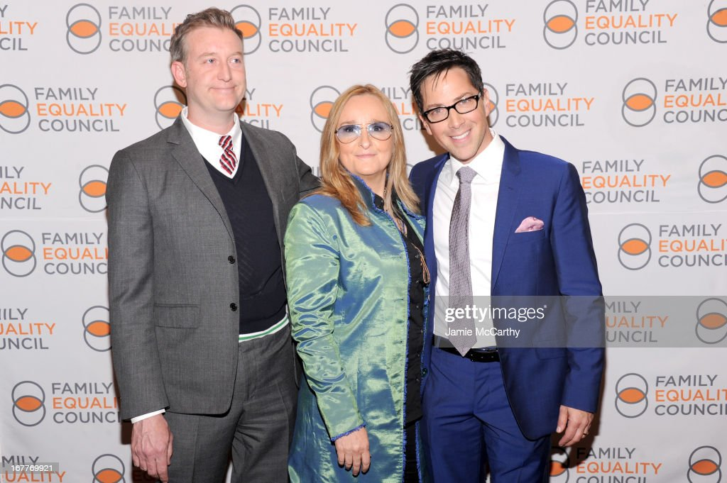 William Sherr, Melissa Etheridge and actor Dan Bucatinsky attend the Family Equality Council's Night at the Pier at Pier 60 on April 29, 2013 in New York City.