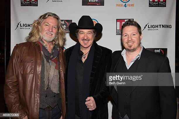 William Shockley Kix Brooks and Dustin Rikert attend the 'Ambush At Dark Canyon' premiere at the Country Music Hall of Fame and Museum on January 29...