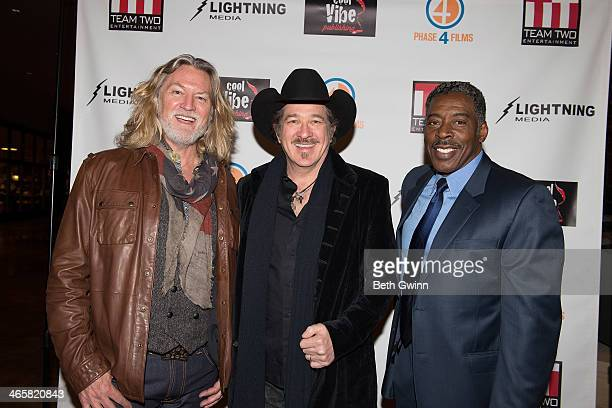 William Shockley Kix Brooks and Ernie Hudson attends the 'Ambush At Dark Canyon' premiere at the Country Music Hall of Fame and Museum on January 29...