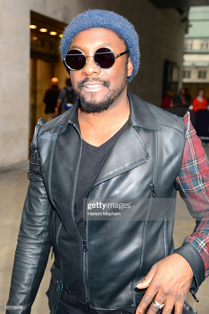 Will.i.am sighted at BBC Radio One studios on June 21, 2013 in London, England.