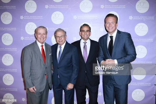 William T Sullivan Dr Samuel Waxman Michael Nierenberg and Chris Wragge during the Dr Samuel Waxman Cancer Research Foundation's 20th Anniversary...