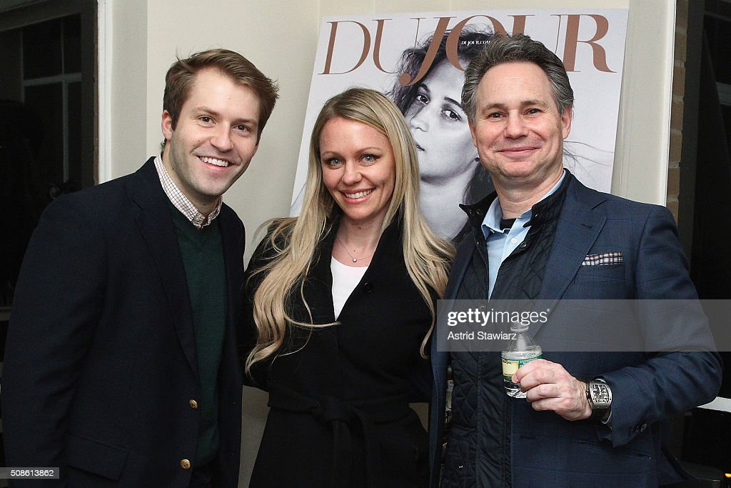 William Taylor, Heather Bennett, and CEO of DuJour Media <a gi-track='captionPersonalityLinkClicked' href=/galleries/search?phrase=Jason+Binn&family=editorial&specificpeople=204684 ng-click='$event.stopPropagation()'>Jason Binn</a> attend an intimate evening of friends and colleagues at Mr. Colin Dougherty's New York City apartment on February 5, 2016 in New York City.