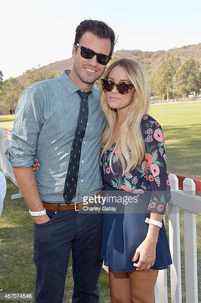 William Tell and Lauren Conrad attend the FifthAnnual Veuve Clicquot Polo Classic at Will Rogers State Historic Park on October 11 2014 in Pacific...