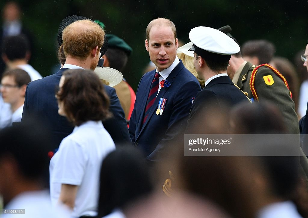 William the Duke of Cambridge (C) attends the ceremony to mark the centenary of the Battle of the Somme at the Thiepval monument, in Thiepval, near Amiens, northern France on July 01, 2016. The Battle of the Somme remains as one of the most deadly battles of the First World War.