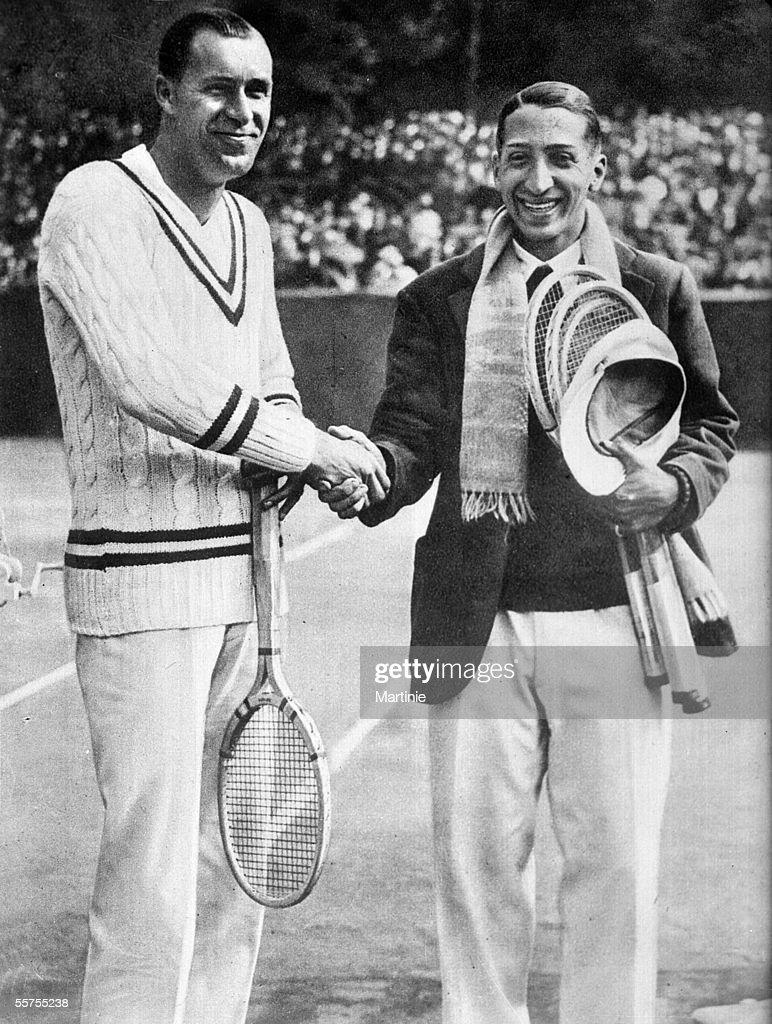 William Tilden and Rene Lacoste champions of tenn