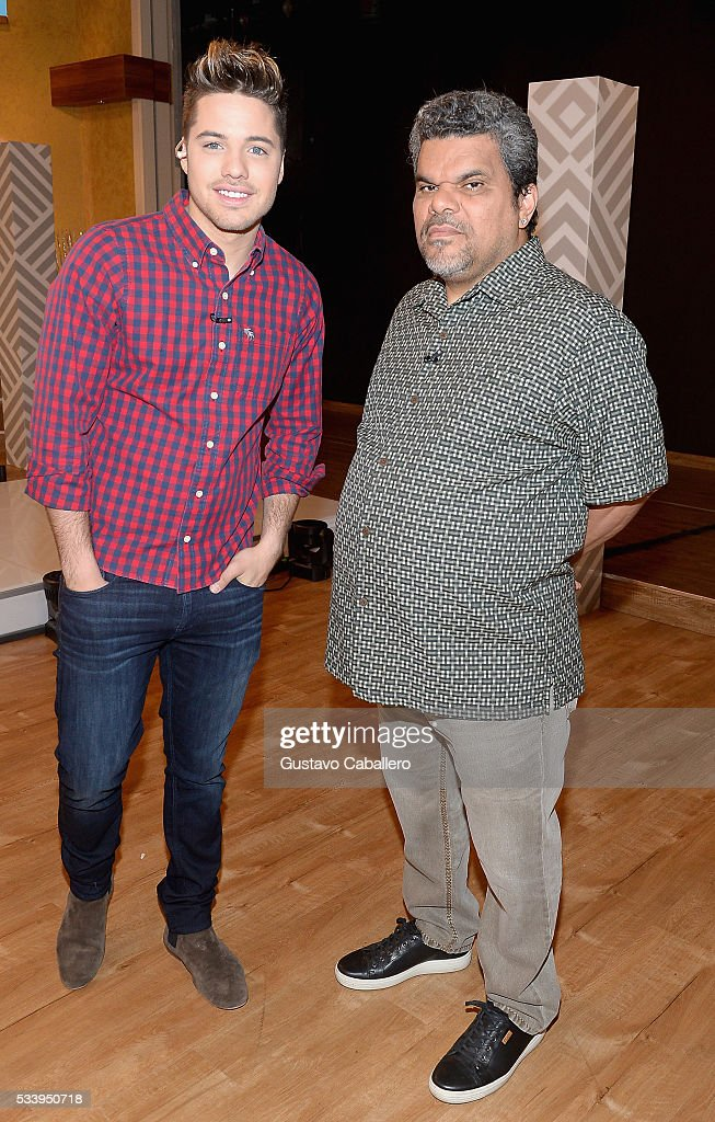 William Valdes and Luis Guzman is on the set of Univision's 'Despierta America' at Univision Studios on May 24, 2016 in Miami, Florida.