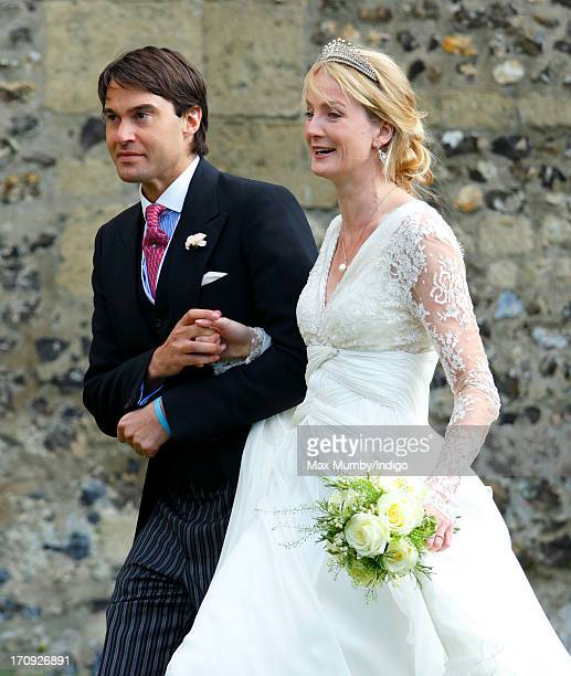 William van Cutsem and Rosie Ruck Keene leave the church of St Mary the Virgin in Ewelme after their wedding on May 11 2013 near Oxford England