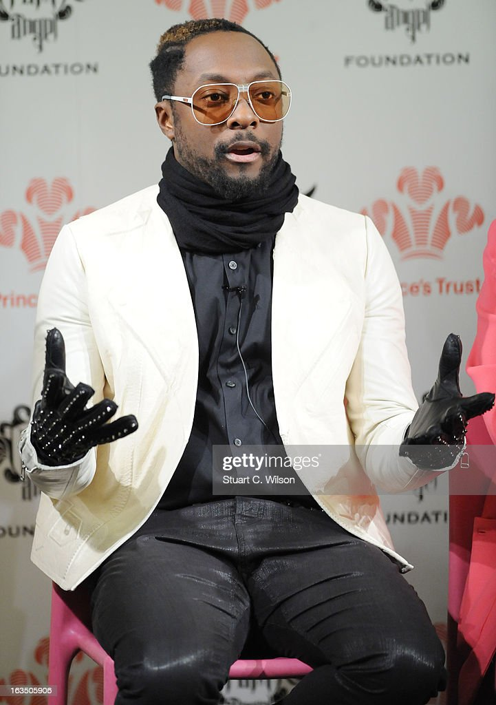 Will.i.am visits The Science Museum where he announced The Prince's Trust new STEM (Science, Technology, Engineering and Maths) workshops for teens at Science Museum on March 11, 2013 in London, England.