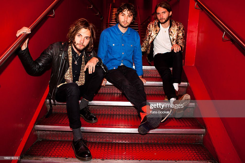 William Walter, Ollie Walter and Timothy Walter pose for portraits backstage supporting Deap Vally at Scala on May 22, 2013 in London, England.